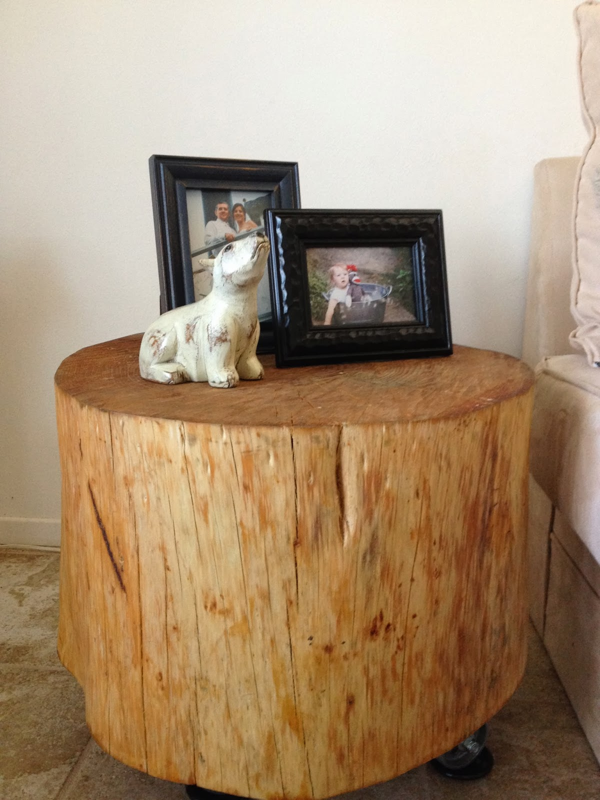 how make handmade natural tree stump side table homesfeed clear stained wood with casters two ture frames black animal miniature accent cream colored tables target high top ikea