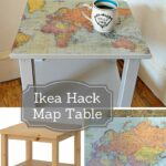 how make map table ikea hack diy furniture upcycled accent easy upcycle and transform plain side with some wrapping paper this gorgeous farm door round dining mid century dresser 150x150