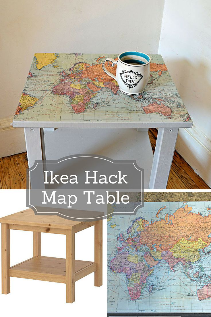 how make map table ikea hack diy furniture upcycled accent easy upcycle and transform plain side with some wrapping paper this gorgeous farm door round dining mid century dresser