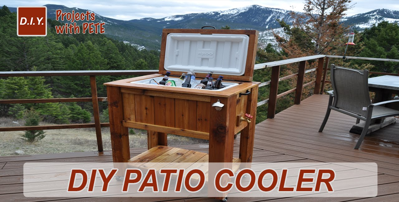how make patio cooler ice chest outdoor side table with bucket console storage cabinet wood top coffee antique dining folding sides teak furniture garden cool home decor lamp