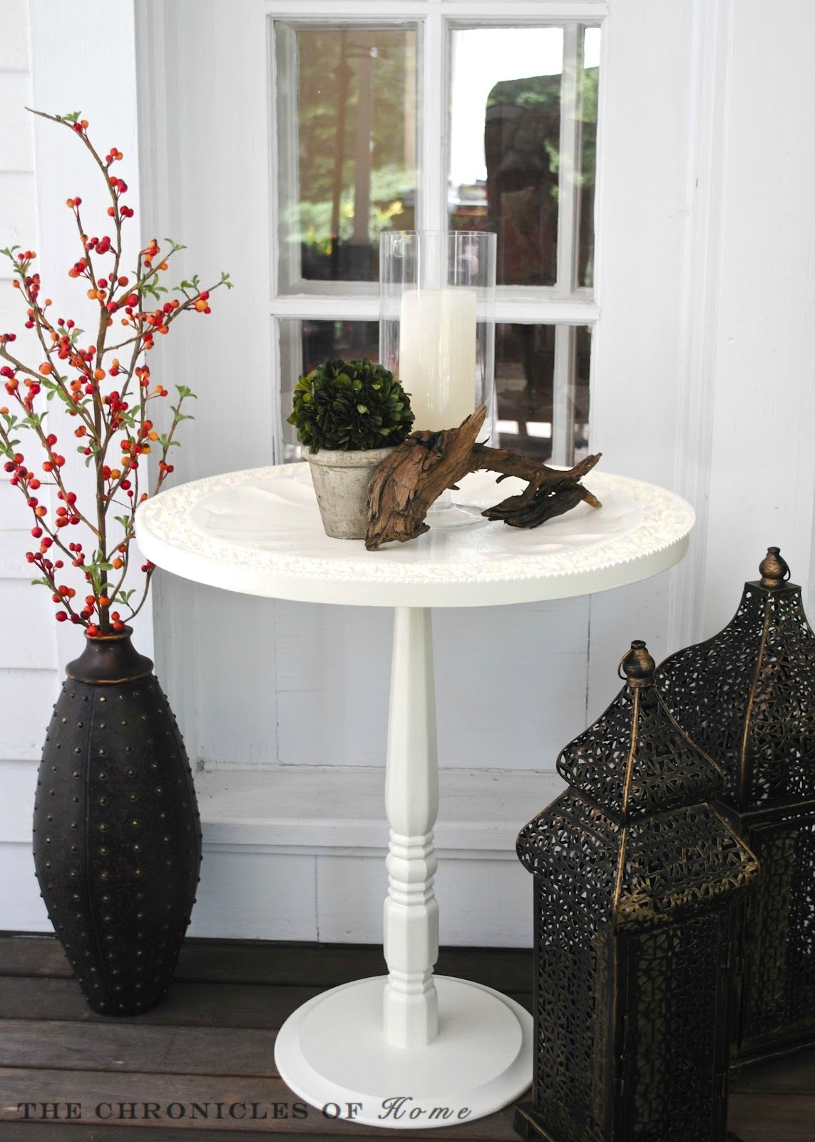how make pedestal accent table from wooden tray wall diy hanging and few other simple materials indoor outdoor furniture clock design inch legs bunnings sun lounge dining plate