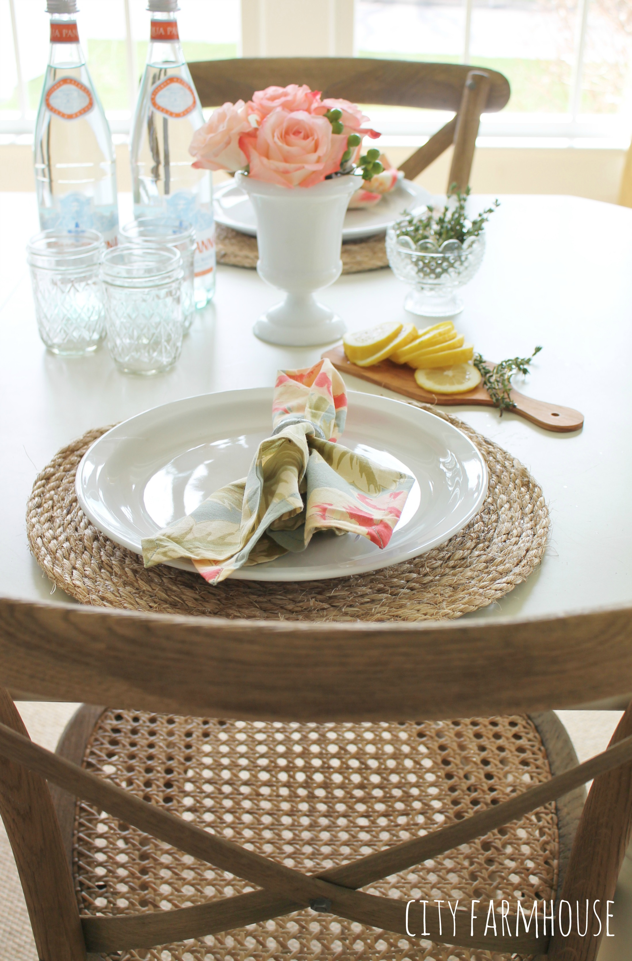 how make round jute place mats jennifer rizzo pottery barn inspired placemats summer table city farmhouse accent placemat plastic patio set triangle cast aluminum side high end