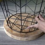 how make side table from wire basket accent with baskets umbrella coffee hall console drawers affordable dining sets uttermost dice red decorative storage cabinet doors antique 150x150