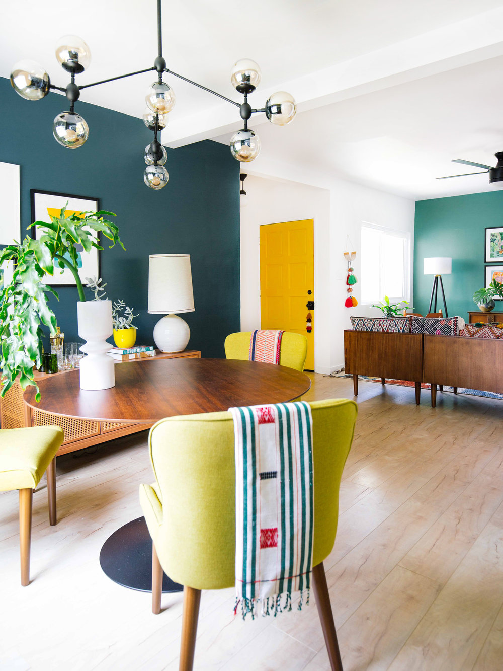 how use color open floor plan old brand new dining table accent pieces the result was even more defined and unified than could have hoped for sprinkled some darker like rug