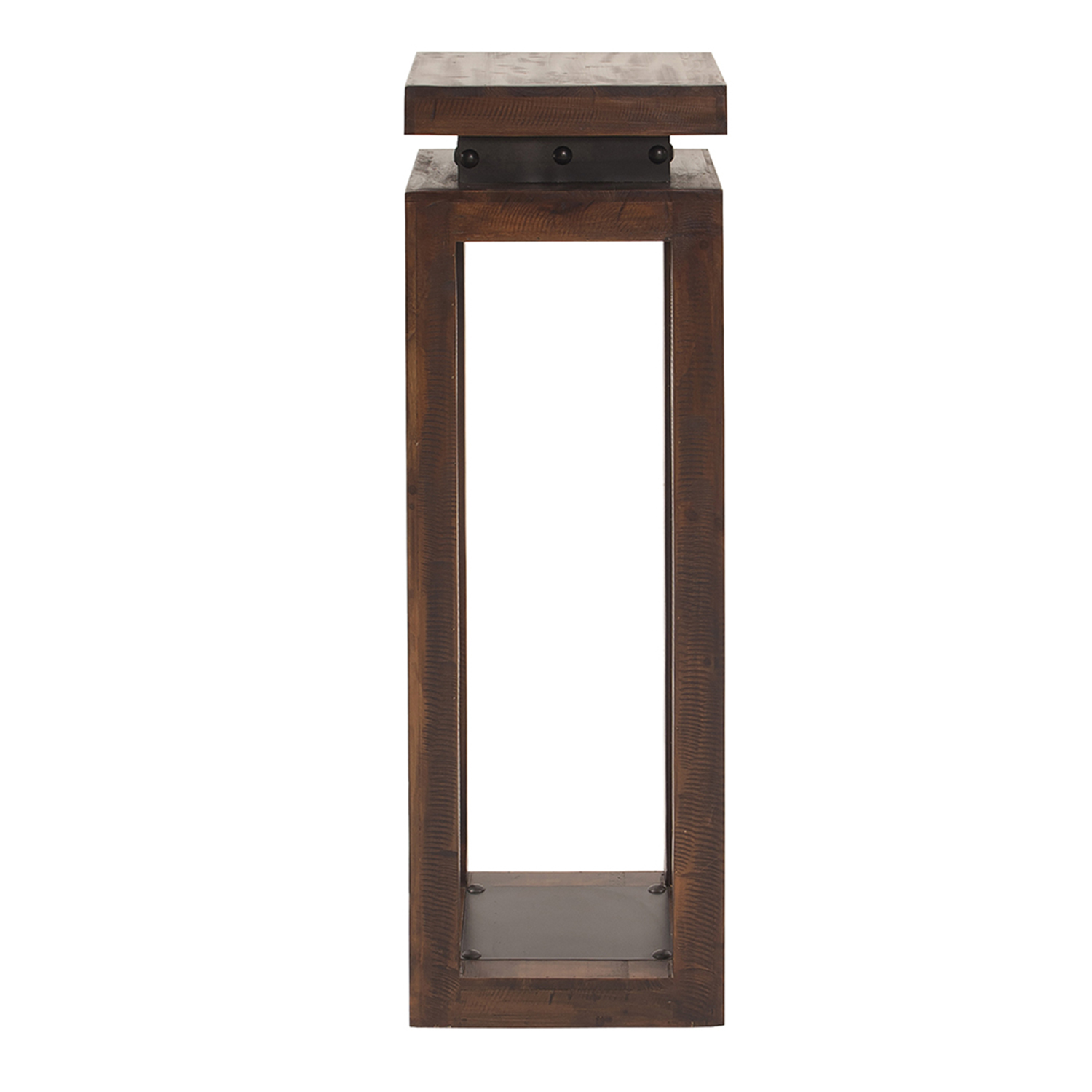 howard elliott collection rustic wood pedestal table with iron accent accents hover zoom unique patio furniture target bench threshold windham cabinet cream round side gray end