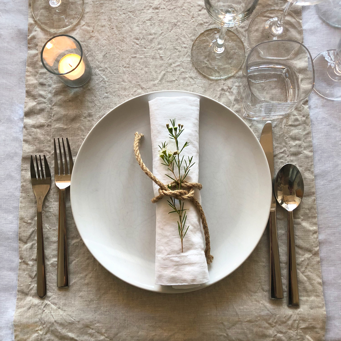 huddleson linens natural flax linen table runner white napkin swedish dinner party artistic accents tablecloth scandinavian layering with runners and pier one imports dining room
