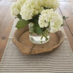 hydrangea farmhouse table home decor dining room accent runner weathered end tables mirror side ikea bronze drum square glass gold coffee black perspex thin malm nightstand inch 150x150