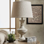 hyperion textured off white light accent table lampinspire regarding lamp heyburn brushed steel with usb port mid century outdoor furniture pier one imports lamps cupboard mirror 150x150