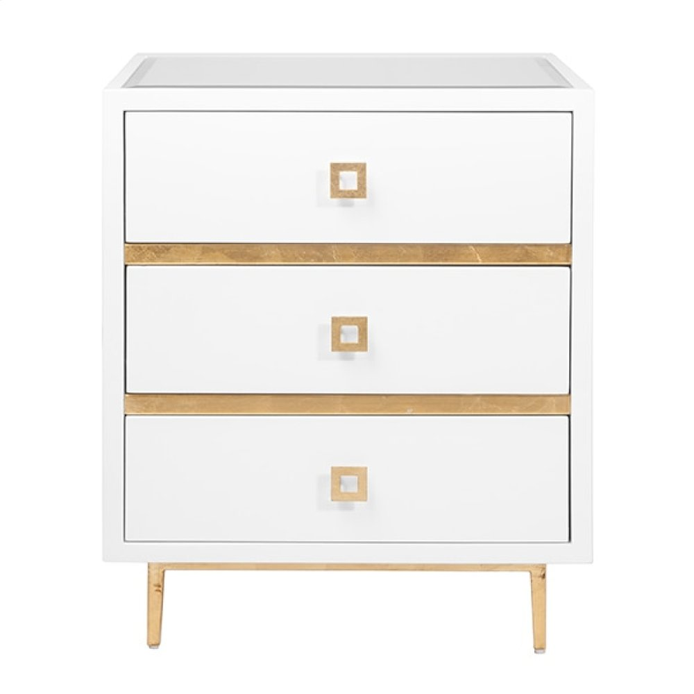 icon furniture art worlds away drawer white lacquer side frarmpqhlcwu accent table with gold leaf accents base beveled mirror inset top greater houston and wilcox set round coffee