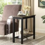 icymi roundhill furniture lediyana faux marble top side table accent espresso finish end date thursday pdt unfinished chairs old wood tables gloss coffee retro console home goods 150x150