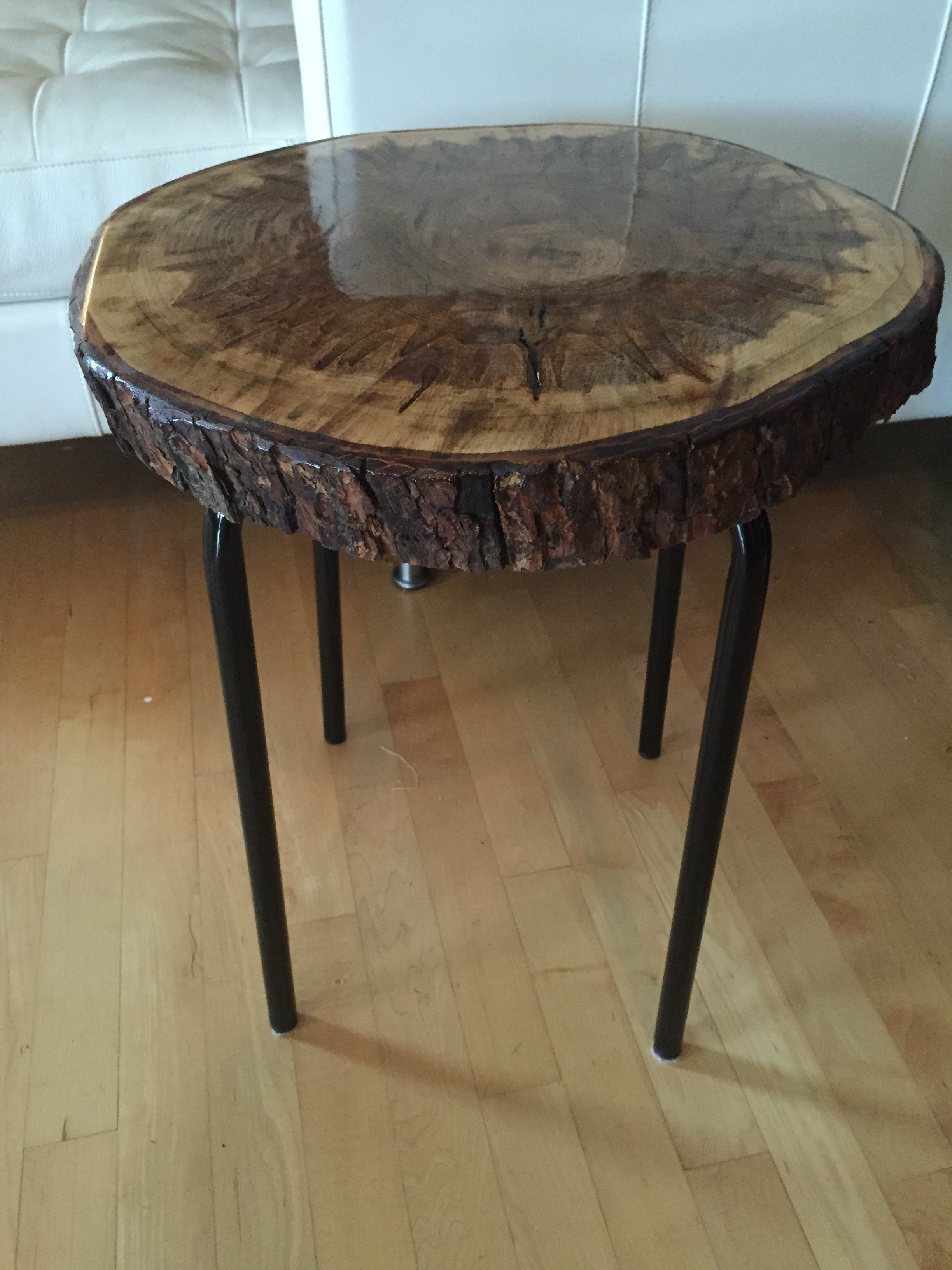 ikea black coffee table with glass top probably perfect live round wood side end stump metal legs log edge living room that lifts wooden pet cage vintage formica half circle lane