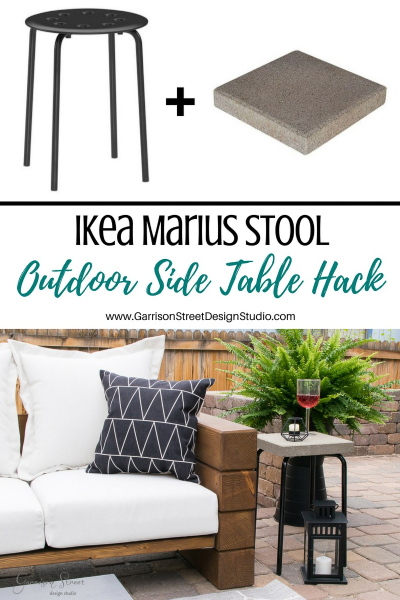ikea marius stool outdoor side table hack garrison street design creative corner garrisonstreetdesignstudio accent this post contains affiliate links extendable nautical lights