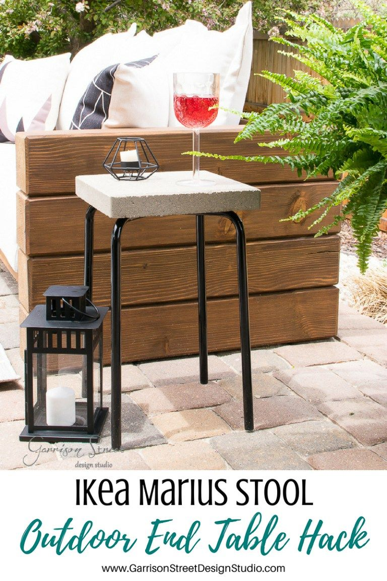 ikea marius stool outdoor side table hack home accent garrison street design studio small glass and chrome coffee red nest tables extendable cocktail decor christmas cloth set