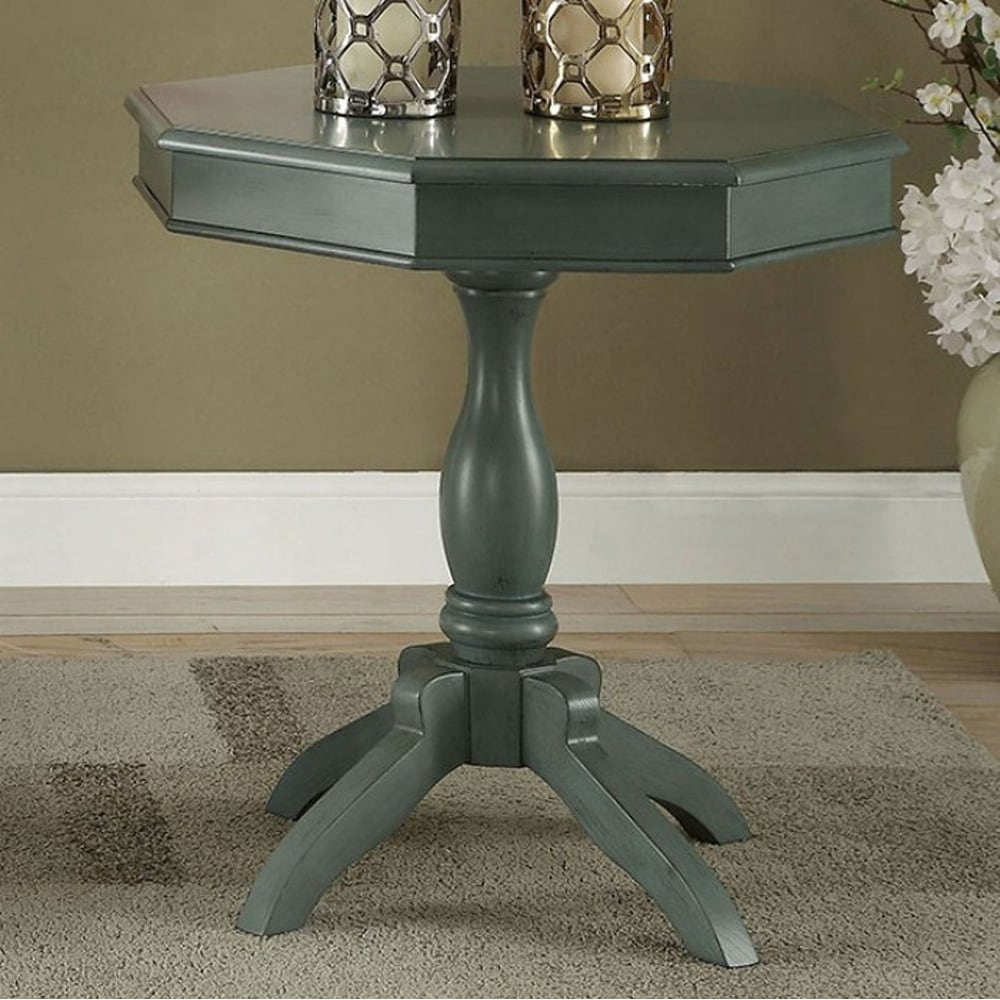 iliana transitional octagon accent table antique teal free shipping today garden drinks cooler white patio laminate paint oak bedside tables end ceiling chandelier long mirror
