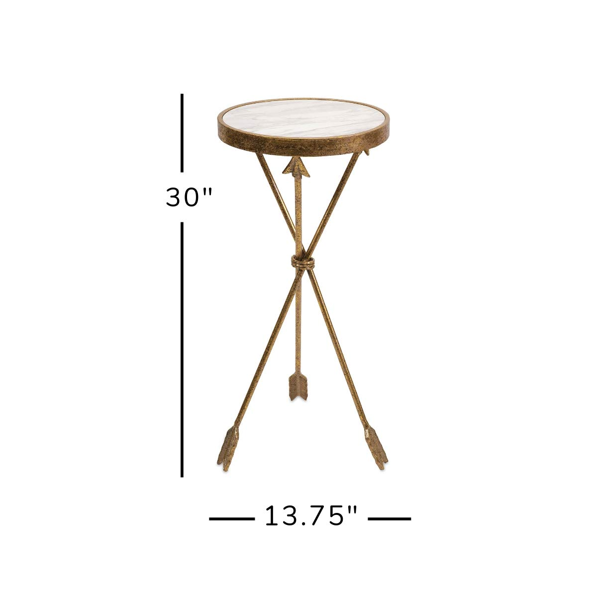 imax arrow marble top table kitchen dining oswxll gold accent with reclaimed wood bedside resin patio side tables metal basket end ikea coffee and black glass antique oak small