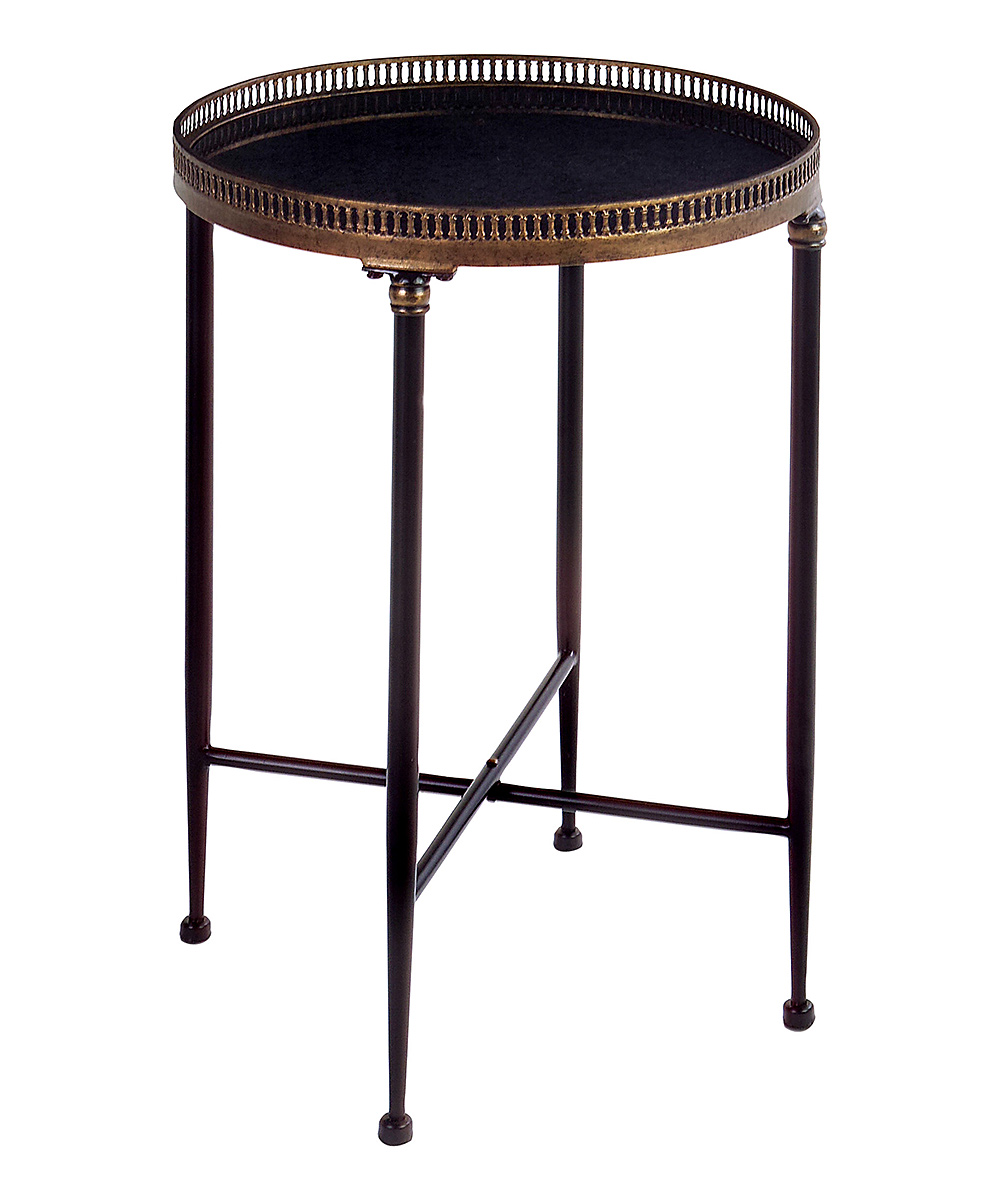 imax black marble wrought iron round accent table zulily main industrial chic canadian tire lounge chairs look side tables ceramic lamps torch lamp red bedside solid wood sofa