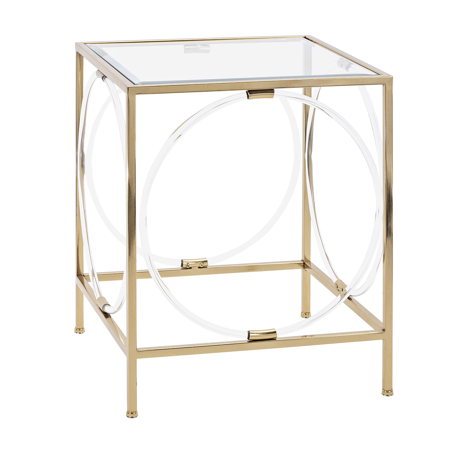imax rouvin gold acrylic glass accent table bellacor wood and metal nesting tables wrought iron patio furniture legs modern wooden grill round oak end storage for small spaces