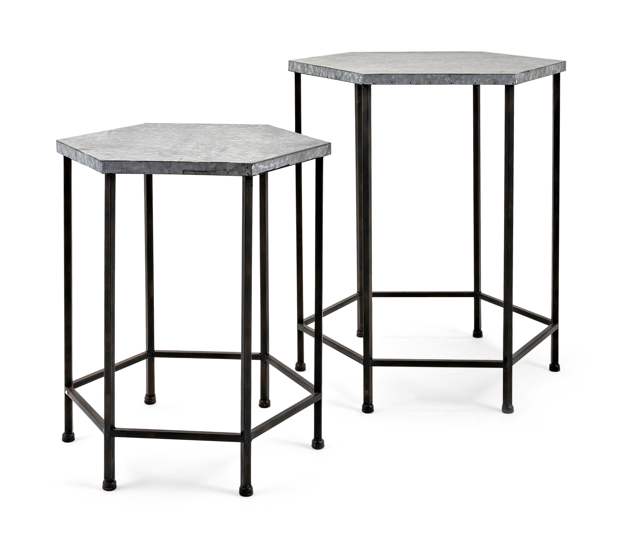imax set kendan galvanized accent tables gray finish metal table loading modern legs outdoor nic black pedestal side carpet transition piece cast aluminum end boston furniture