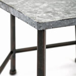 imax set kendan galvanized accent tables gray finish table small target red side outdoor bistro top ideas tablecloth wood counter height pub living room armchair black bar narrow 150x150