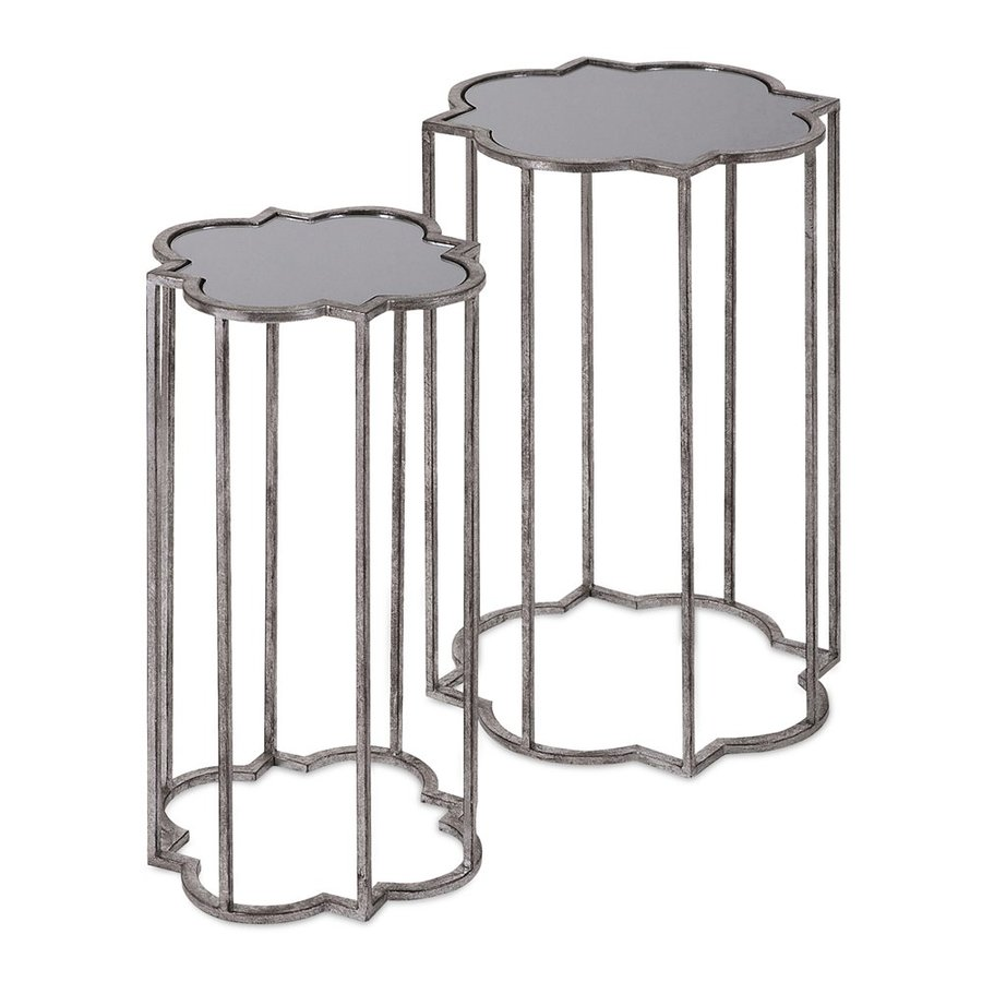 imax worldwide acworth piece silver accent table set wooden mats stand alone umbrella miera diamond mirrored black marble top end tables outdoor weights chair low living room high