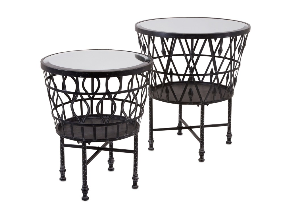 imax worldwide home mirrors zaria drum mirror accent tables products color table and set mirrorszaria ashley furniture beds original tiffany lamps rustic coffee end sets half
