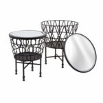 imax zaria drum mirror accent tables set bellacor black table hover zoom white cabinet with glass doors destination lighting counter dining cooler coffee round outdoor umbrella 150x150