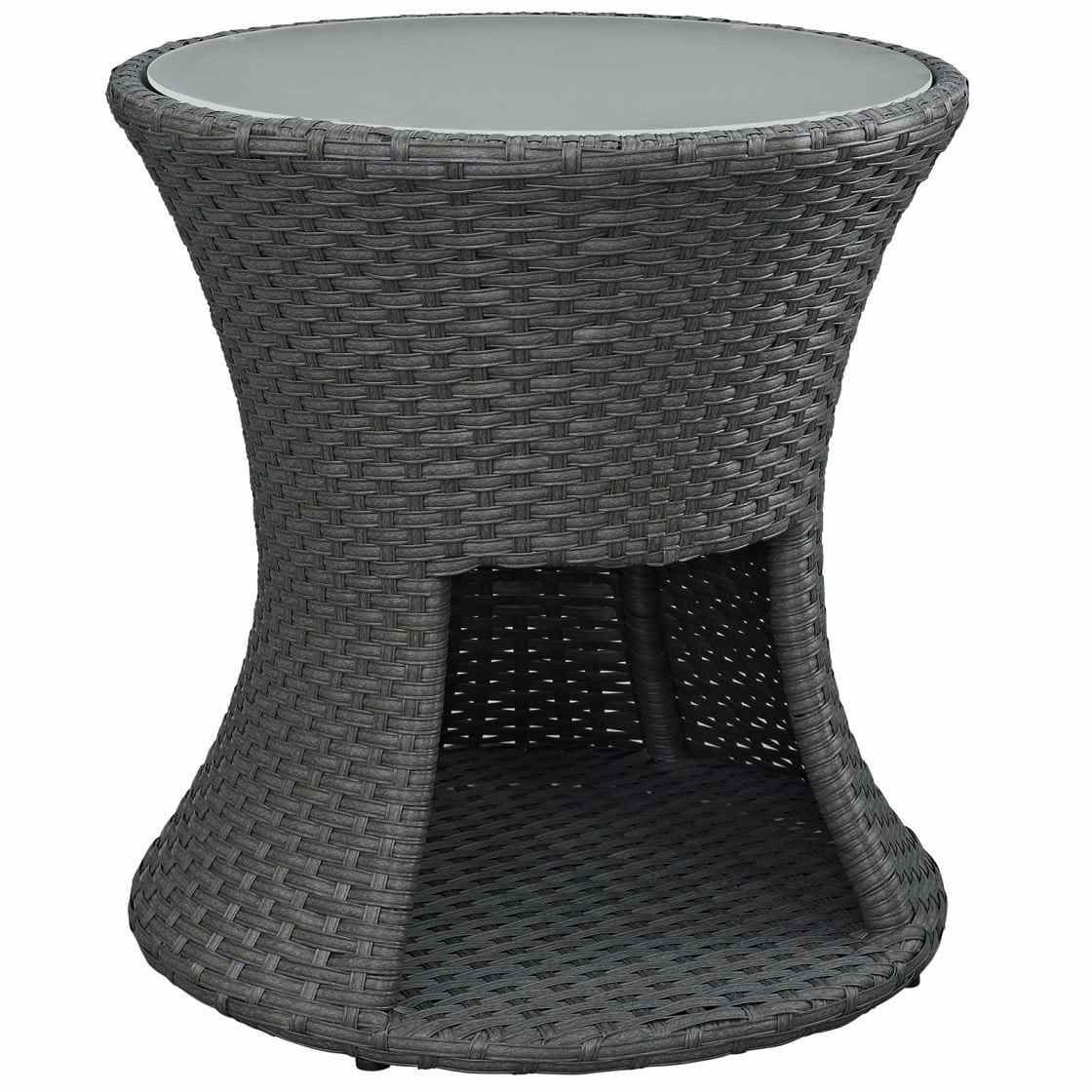 impeccable umbrella hole decor well striking patio coffee modway sojourn outdoor side table fullsize wall industrial corner cast aluminium garden furniture small white with drawer