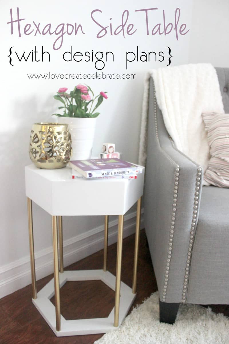 impressive diy end tables for any space hexagon side table wire basket accent modern metal with wood counter height dining bench unfinished sofa farm chairs wooden bedside