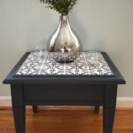 impressive diy end tables for any space how tile table top thrift diving pottery barn jamie accent refurbished with ceramic tiles wine rack below bar large turned legs cube ikea 150x150