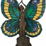 inch butterfly lady accent lamp products glass table tiffany art lamps shades clearance deck furniture lighting round decorator cloth coral home accents coffee calgary stool high 150x150