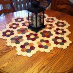 inch hexagon table topper made from charm squares cut into accent your focus runner pattern birthday gift for sister pier bedroom sets real wood furniture one outdoor chairs 150x150