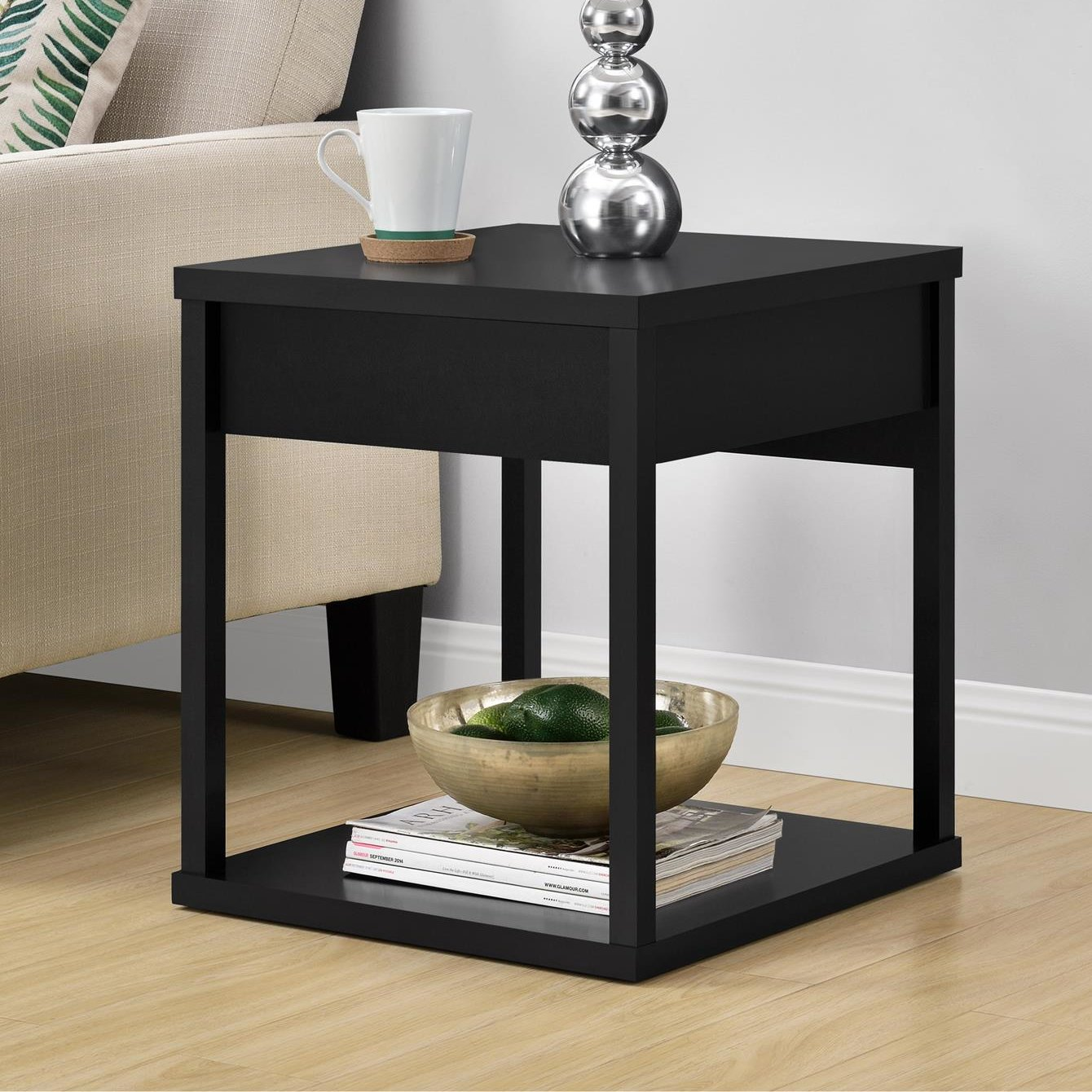 inch high end table annsville low height accent rustic lamps wood and glass top coffee evans head cherry console pub battery pack for lamp pottery barn chest entryway powered desk