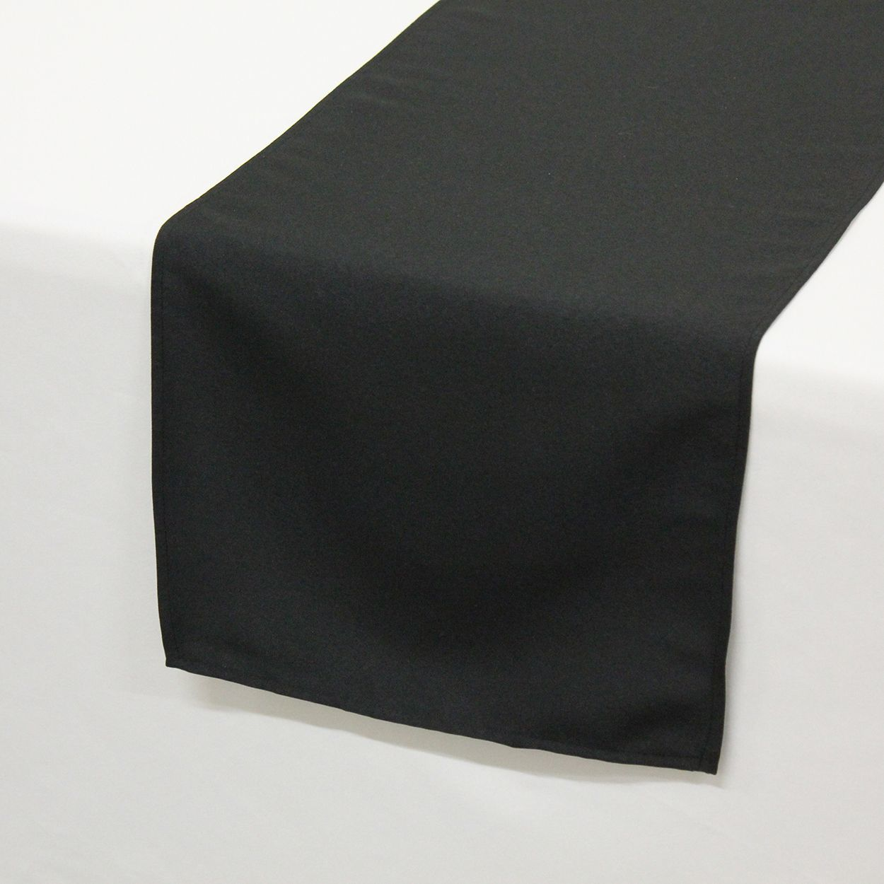inch polyester table runners black for weddings bridal accent runner small living furniture pier one seat cushions mirror side ikea round marble coffee cream coloured tables