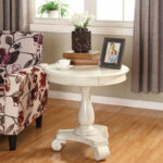 inch round end table constance distressed black pedestal accent quickview reclaimed wood furniture espresso entryway contemporary patio spool side folding leaf ers grey tables 150x150