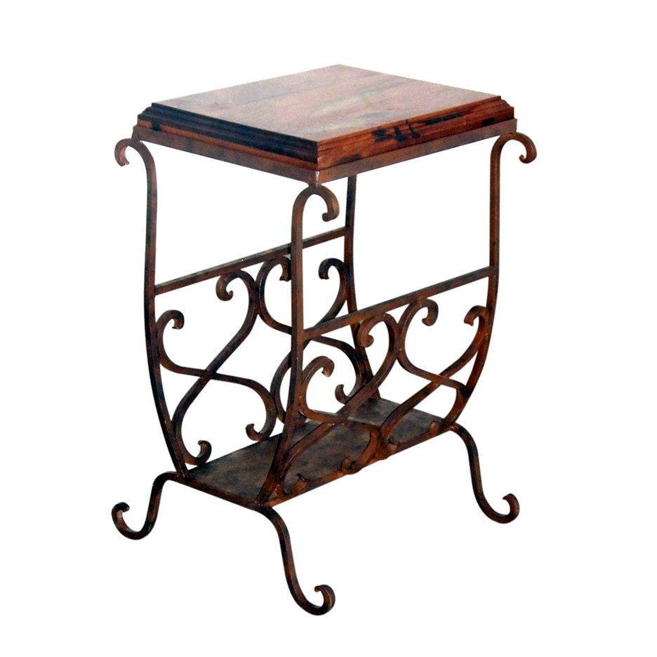 inch round tablecloth side table western furniture medium mesquite scrollwork accent lone star forged iron end tables cream simple white nightstand kitchen cabinets diy rustic