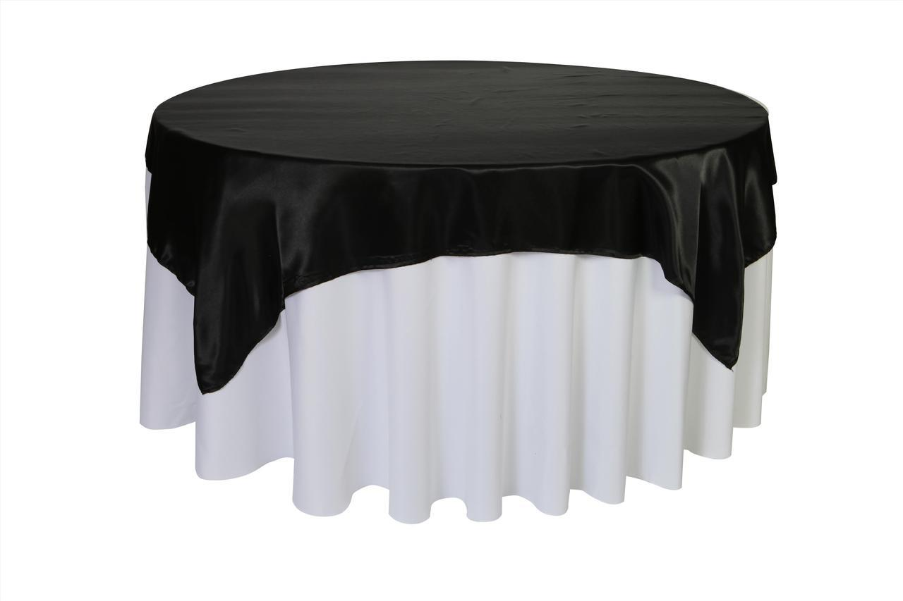 inch square satin table overlay black for weddings bridal round accent skirts tablecloths wedding linens whole cool dining room chairs side coffee dale tiffany pendant lights