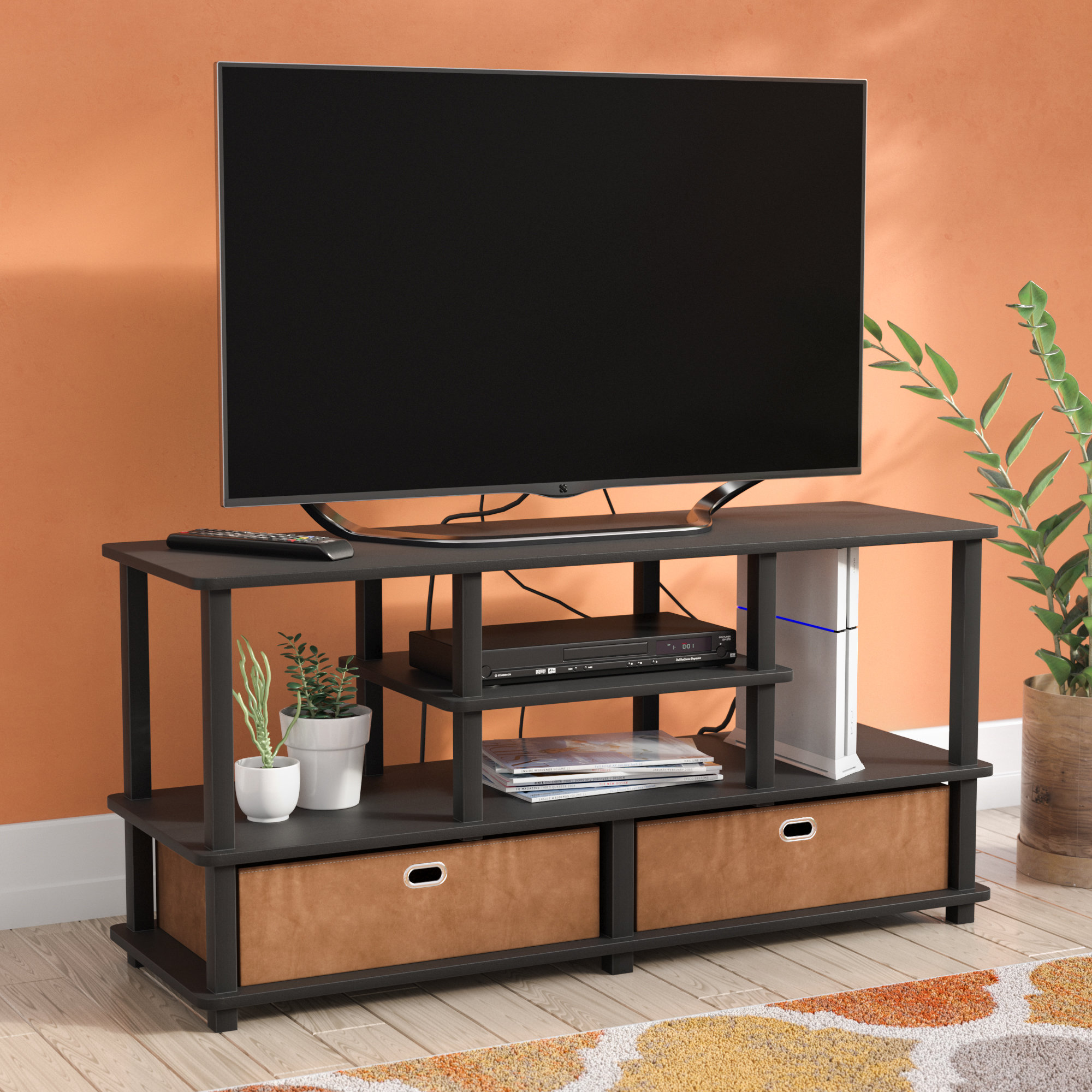 inches stand stands entertainment centers you love crow for tvs rustic corner accent table quickview barn door console high tops bar custom hybrid zoey night with baskets walnut