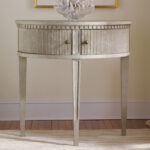 incredible half circle accent table with office star products stunning modern history home gustavian round europeanhalfcirclesidetable unique wine racks rattan drinks cooler 150x150