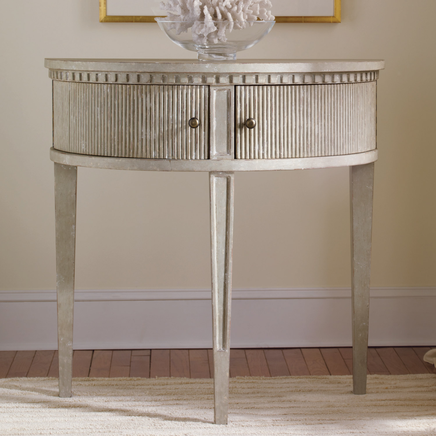 incredible half circle accent table with office star products stunning modern history home gustavian round europeanhalfcirclesidetable unique wine racks rattan drinks cooler