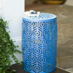 indoor outdoor lighted metal cutout side table with decorative top blue accent butler coffee battery lamps end designs diy round small rectangular patio inch cabinet rectangle 150x150