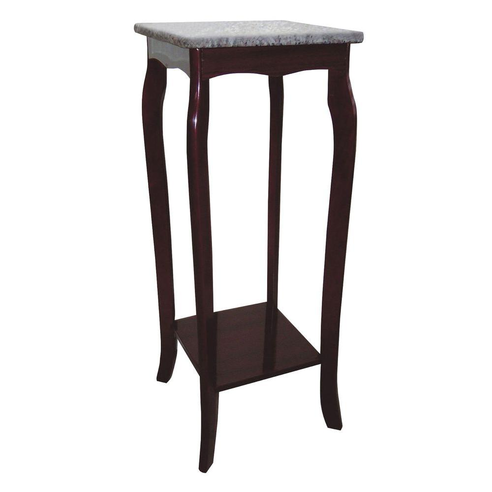 indoor plant stands accent tables the cherry tall round pedestal table brown marble top stand bench small modern end wicker furniture set clearance console with wine rack stools