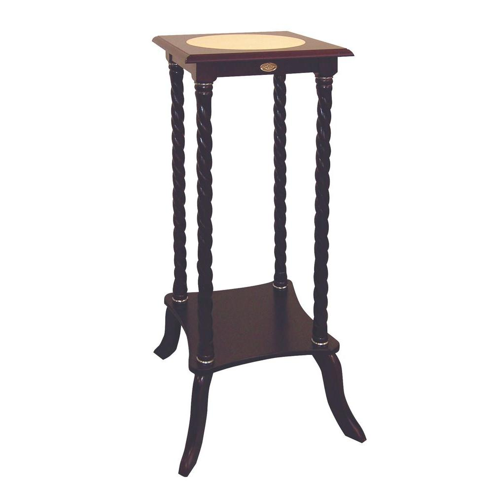 indoor plant stands accent tables the cherry tall round pedestal table brown stand console with stools howard elliott mirrors small modern end pier one dining sets elemental patio