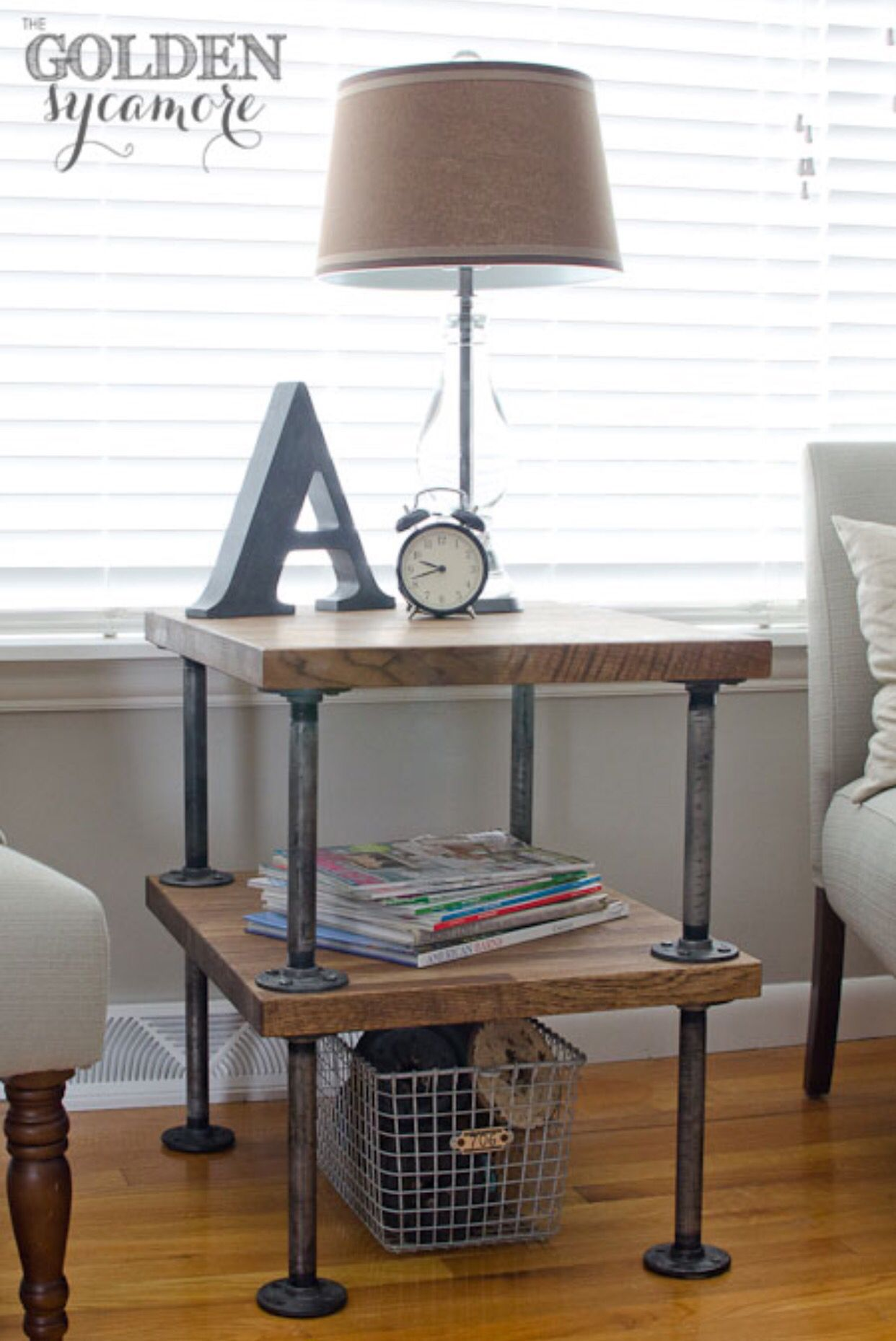 industrial accent table carpenteando diy ideas bedside diysmall large lamp shades small round with drawer reclaimed wood orlando miniature tiffany style lamps clearance fine