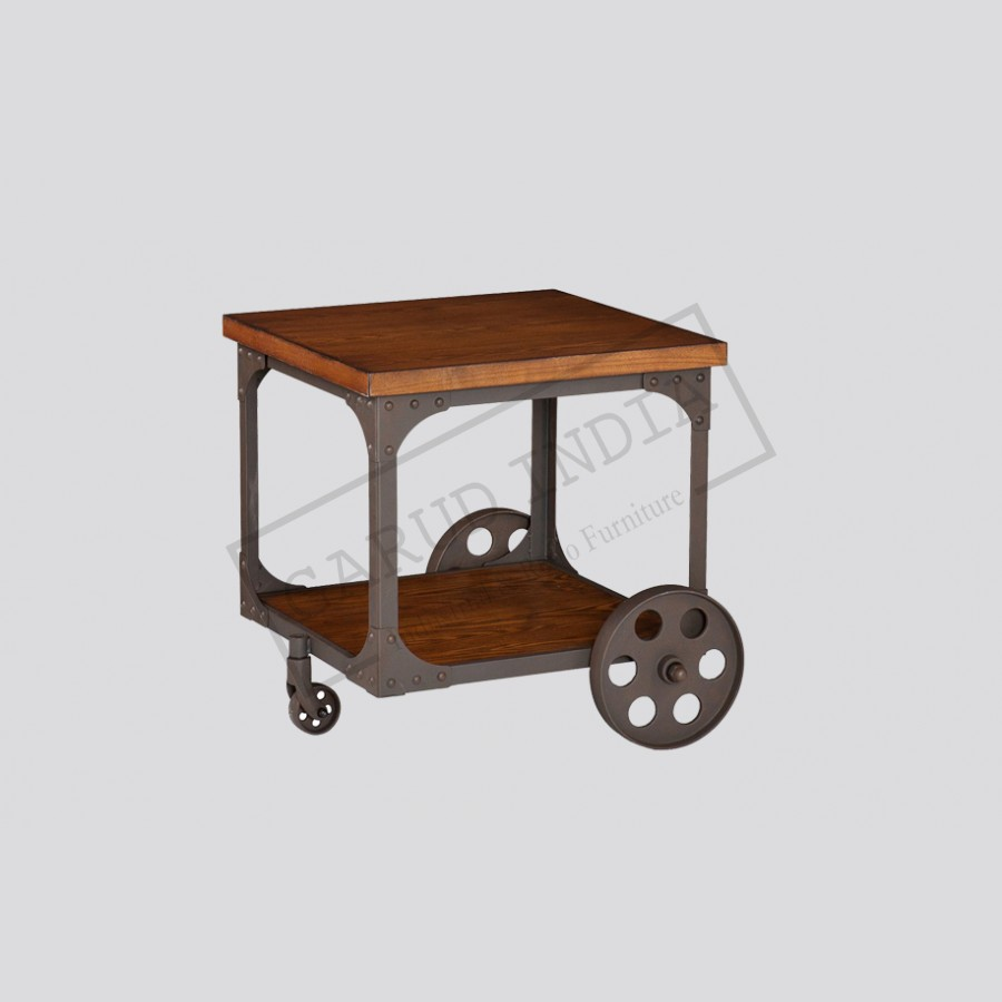 industrial accent table with wheel product popup pier credit card over the couch concrete side antique round oak value pottery barn and chairs for toddlers red outdoor seating
