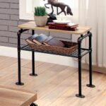 industrial antique black shelf end side table rustic square accent looking tables compaq modern linens white marble top wine cabinet mirrored bedside desk grey dining set small 150x150