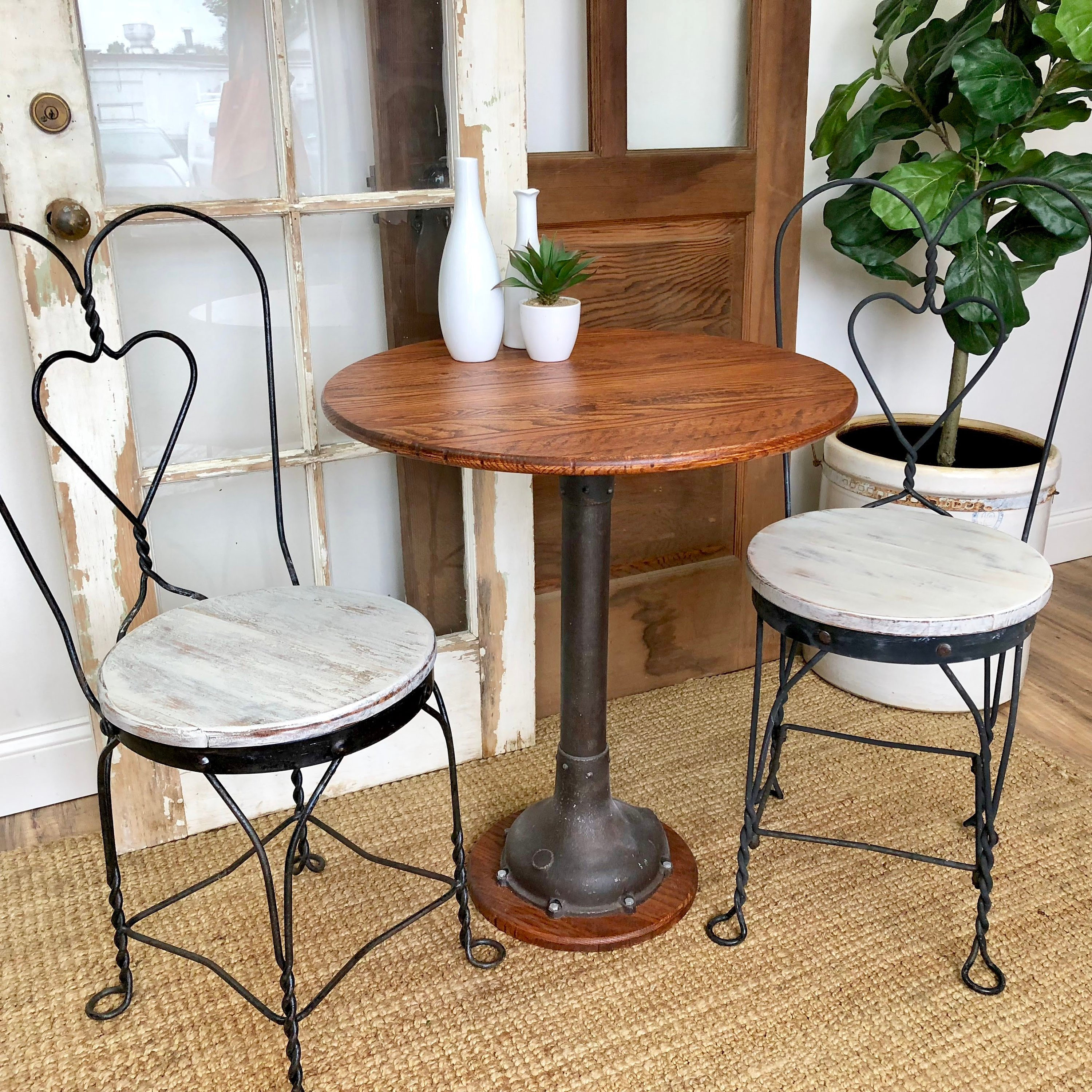 industrial bistro table small round accent fullxfull gsam metal dining upcycled furniture reasonable white wicker outdoor butler tray pottery barn square double trestle used ethan