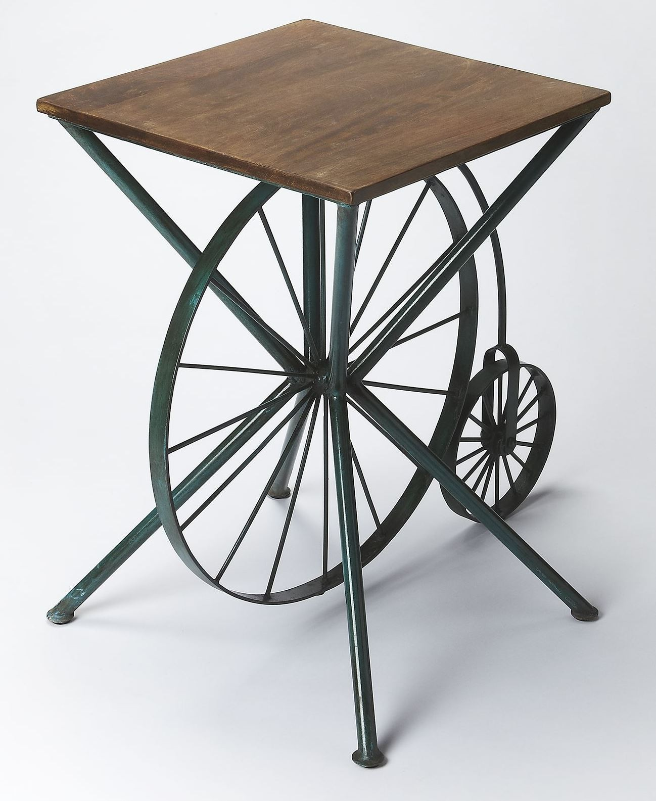 industrial chic accent table from butler brass wire crate bunnings outdoor dining beer cooler coffee marble top turquoise furniture small white glass lamp umbrella stand tennis