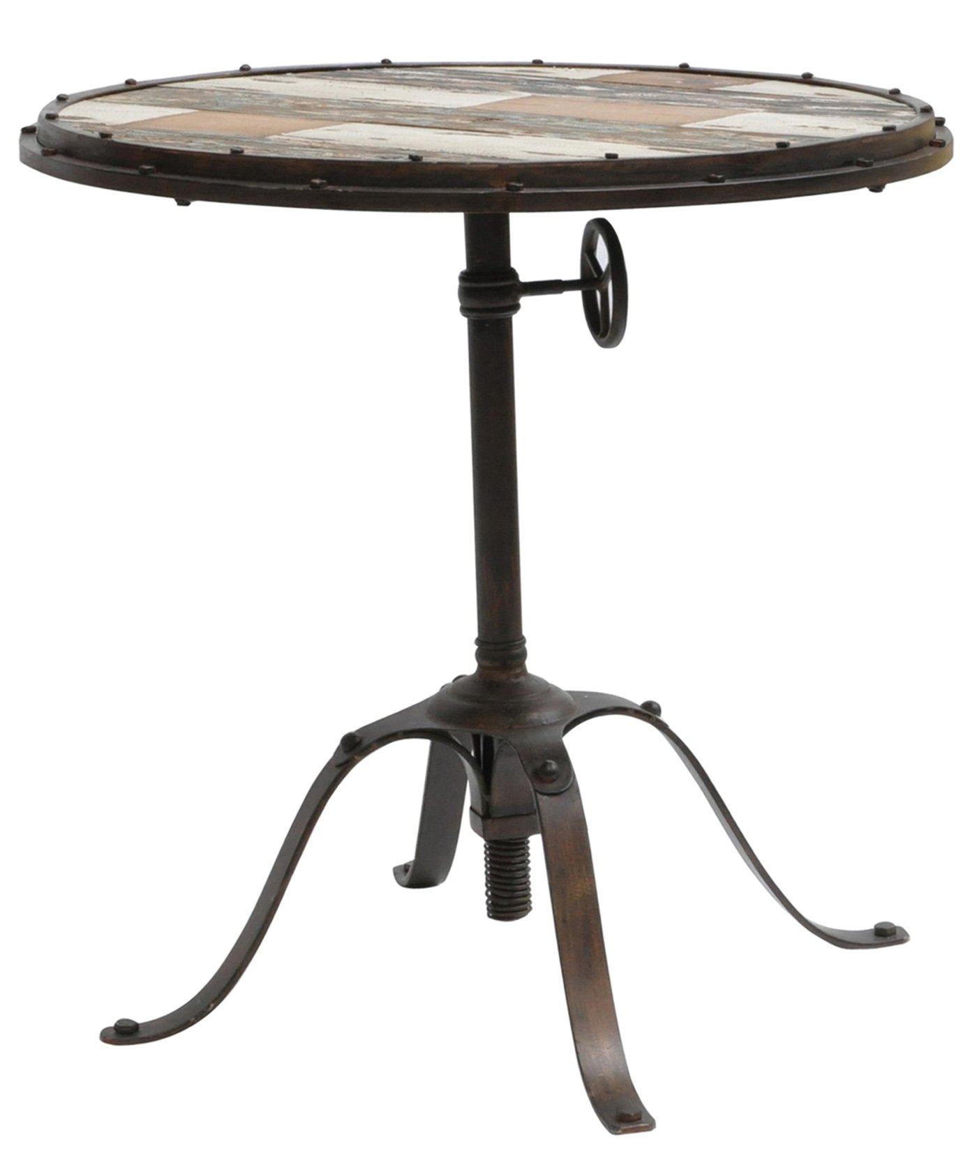 industrial crank accent table buffet lamp shades mirrored cabinet living room white ceramic end metal with drawers small gray coffee console furniture oval side drawer inch