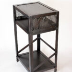 industrial end table steel real edge mawr metal accent img sharpened oak coffee nautical fixtures bunnings outdoor chairs christmas cloth set sectional cover pier one lamps 150x150