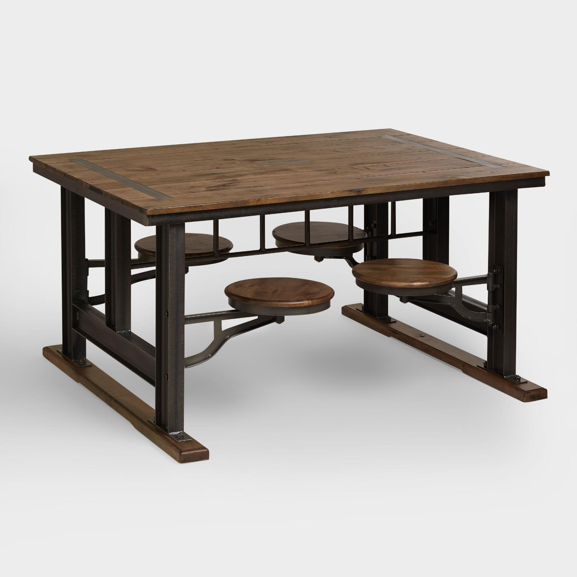 industrial furniture rustic chic world market iipsrv fcgi extra small accent tables galvin cafeteria table pier one imports coupons unfinished round dining designs wood glass and
